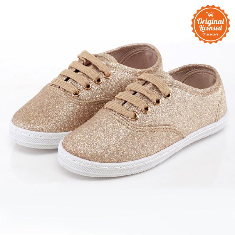 Dsiney Tsum Tsum Gliter Flat Shoes Gold