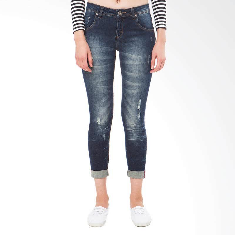 Ladies Jeans Karina Rolled Up - Blue