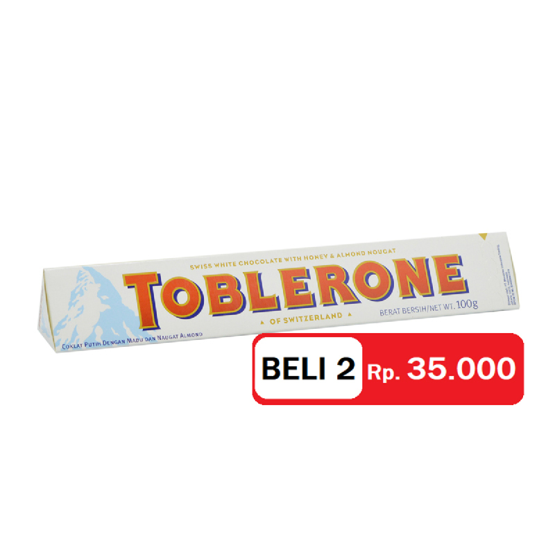 Toblerone White 100 Gr (Get 2)
