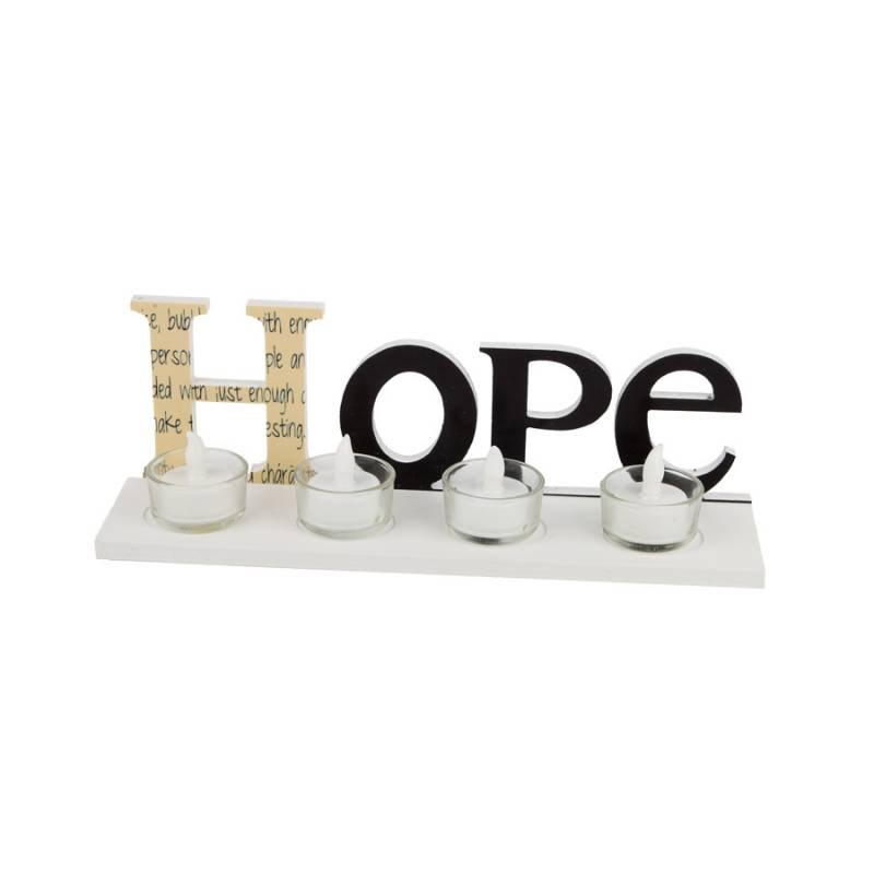 JYSK Candle Holder Hope 30X8X10Cm 16Da145 White