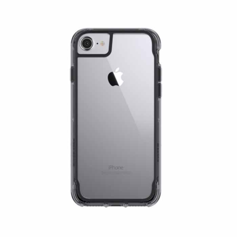 Griffin Survivor Clear for Luigi, iPhone 7+, 6s+, 6+ - Matte Space Gray and Matte Silver and Clear Color (GB42318)