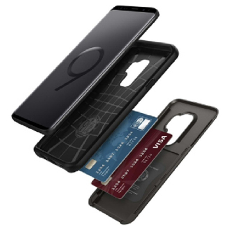 Spigen Galaxy S9+ Case Slim Armor Card Slider - Gun Metal