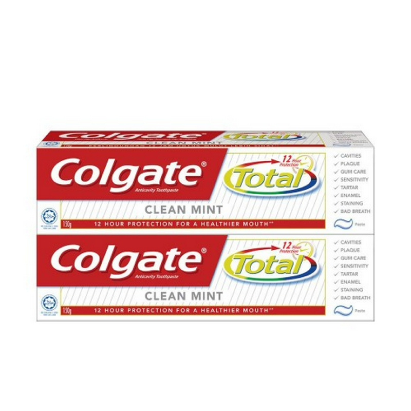 Twin Pack Colgate Total 12 Clean Mint 150 g