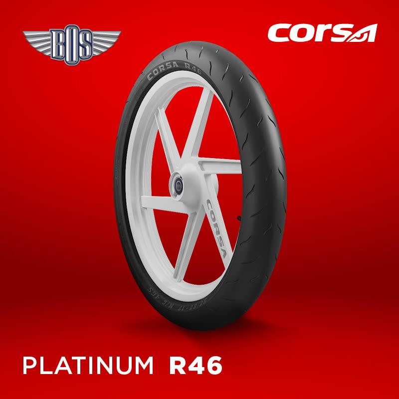 Ban Motor Corsa R46 (Front)-80-80-14-Tubeless- GRATIS JASA PASANG