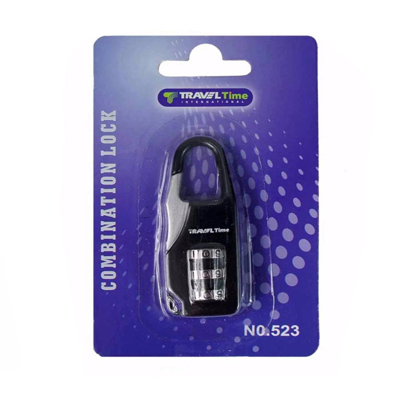 Traveltime Combination Lock 523 Black
