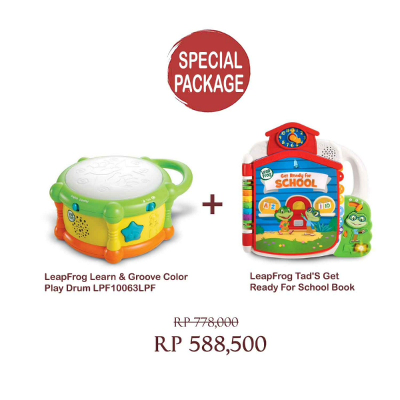 LeapFrog Learn & Groove Color Play Drum LPF10063LPF & LeapFrog Tad'S Get Ready For School Book