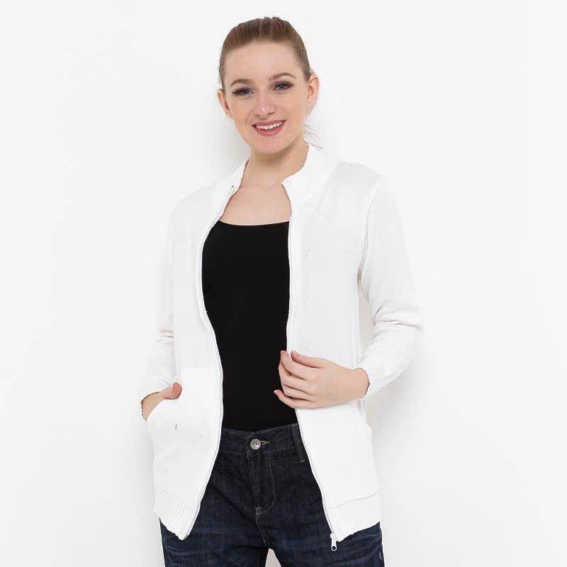 Voyant by Megumi Plain Jacket Pocket White