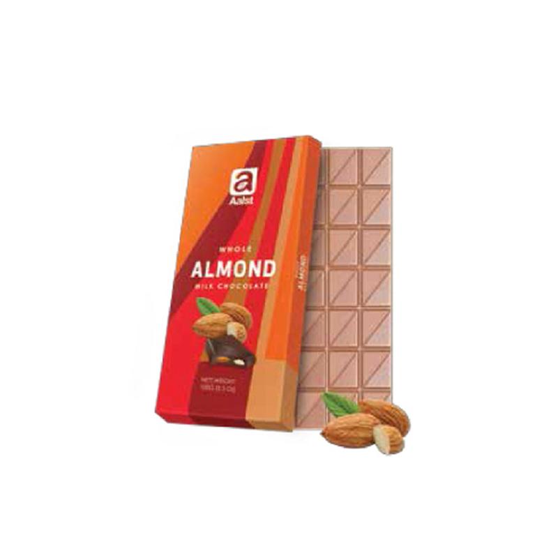 Aalst Chocolate Whole Almond Milk Chocolate 100 Gr