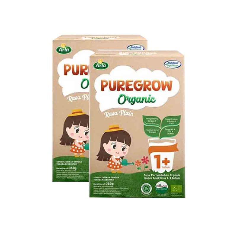 Arla Susu Bubuk Puregrow Girl 1+ 360 Gr (Buy 1 Get 1)