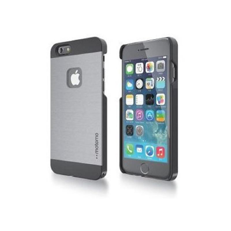 Motomo INO METAL AL1 iPhone6.6S Plus CASE - Silver Hitam