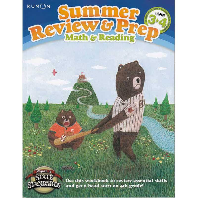 Kumon Kumon Summer Review & Prep Workbooks 3-4