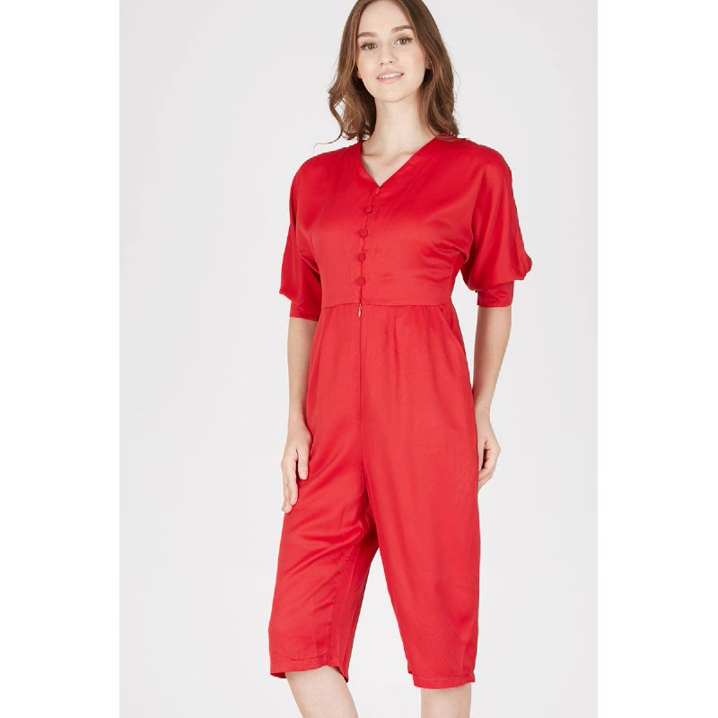 Hilsy Red Jumpsuit
