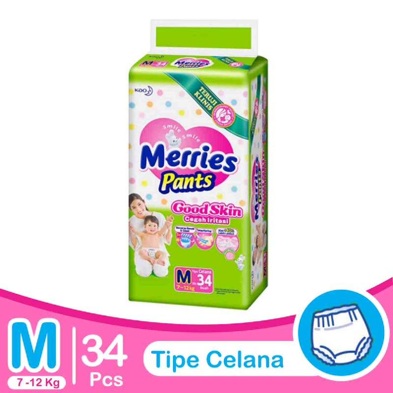Merries Diaper Pants Good Skin M 34S