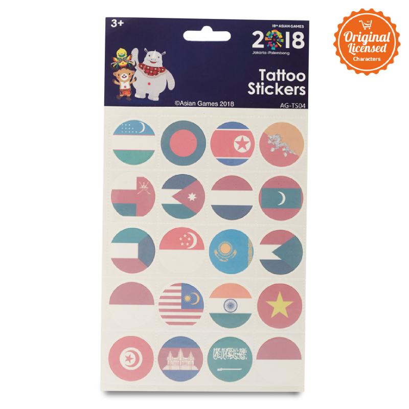 Asian Games Tattoo Sticker AG-TS004