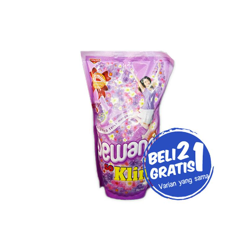 So Klin Pewangi Violet Pouch 900 Ml (Buy 2 Get 1)