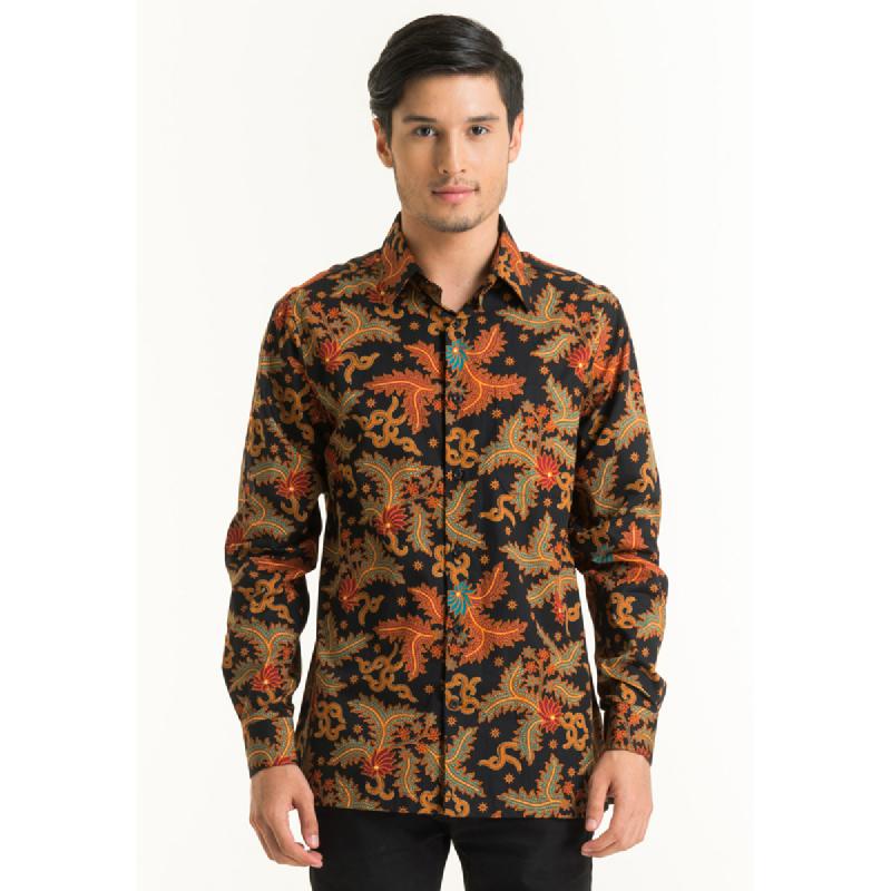 Bateeq Men Long Sleeve Cotton Print Shirt FM012B-SS18 Black