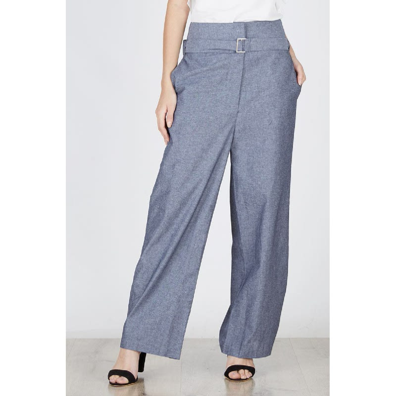 Melina Long Square Pants In Black