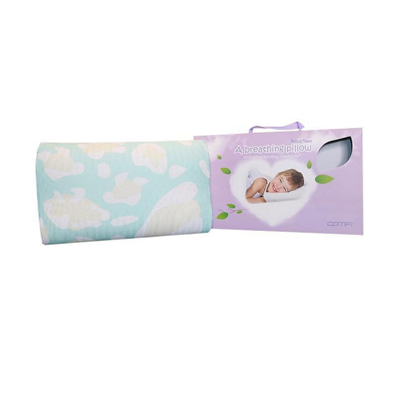 Comfi Bantal Bayi Breathing Pillow Teen Blue