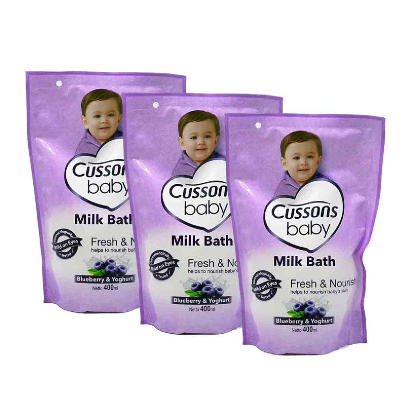 Cussons Baby Milk Bath Blueberry Smooth (Buy 2 Get 1)