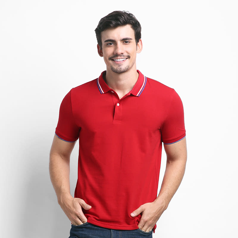Giordano Kaos Polo Pria Haute Red