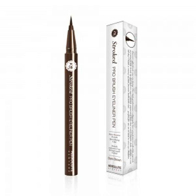 Absolute New York Stroked Pro Brush Eyeliner Pen Dark Brown