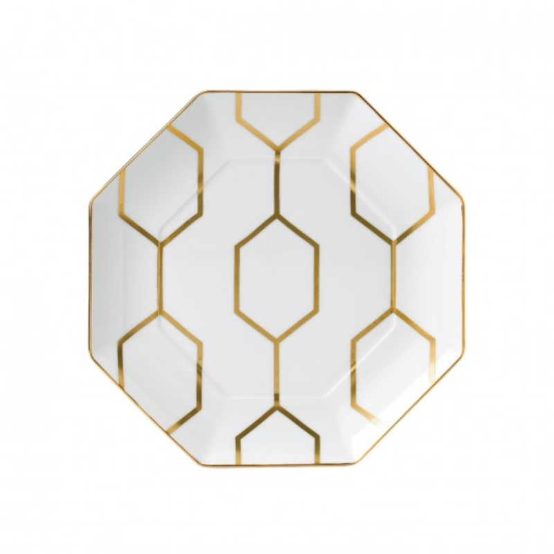 Arris - Octagonal Side Plate white 23cm