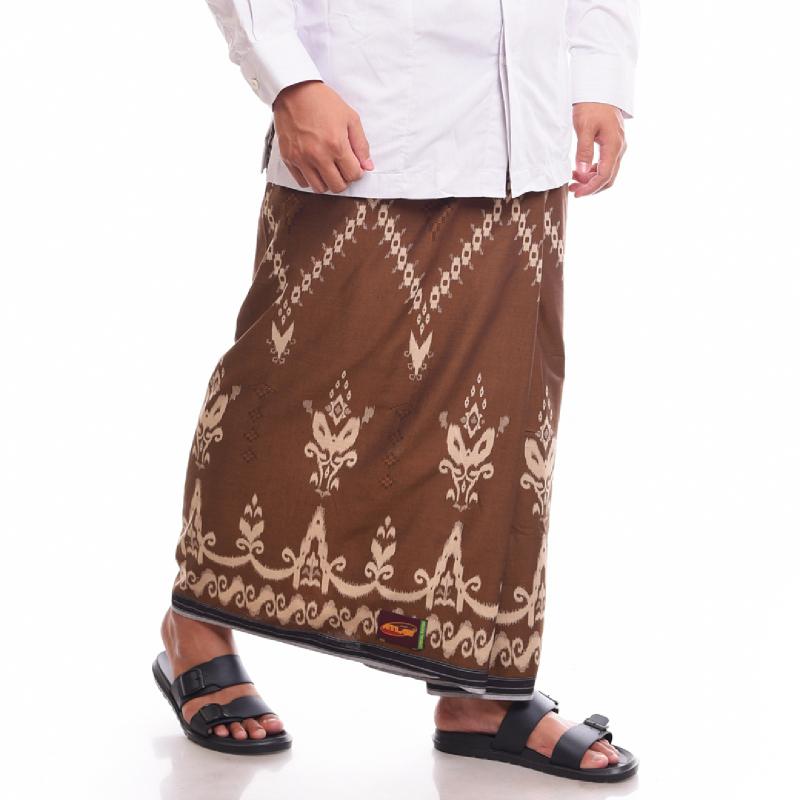 ATLAS Sarung Kembang Special Rayon Dobby Coklat