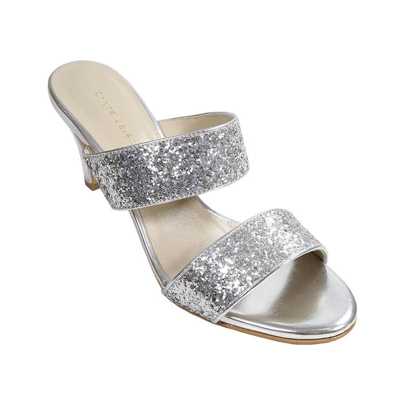 Andre Valentino Heels Silver