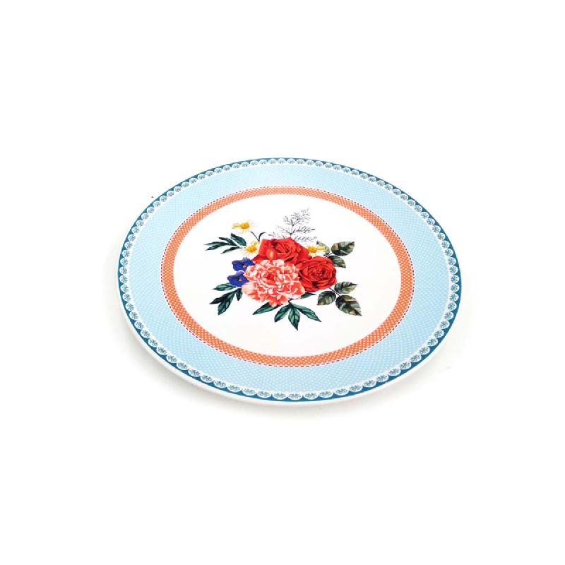 Lotte Mart Piring Makan Corak Red Rose