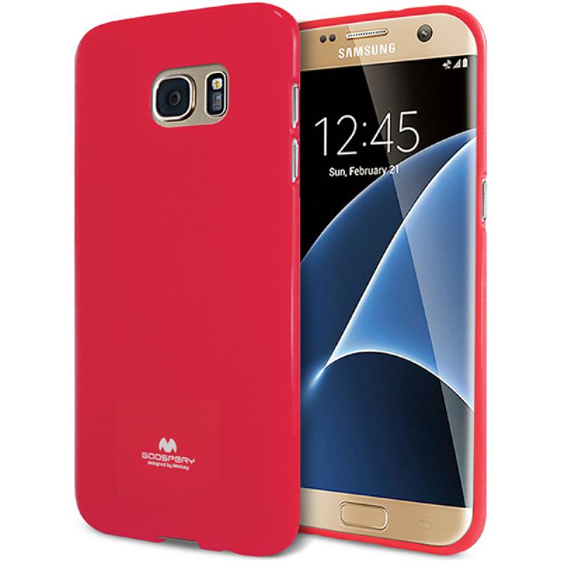 Goospery Jelly Case for Samsung Galaxy S7 Edge - Magenta