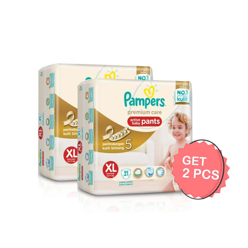 Pampers Premium Active Baby Diaper Pants XL 21S (Get 2)