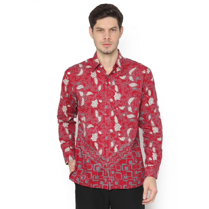Agrapana Satyawadi Kemeja Batik Cap Regular Panjang