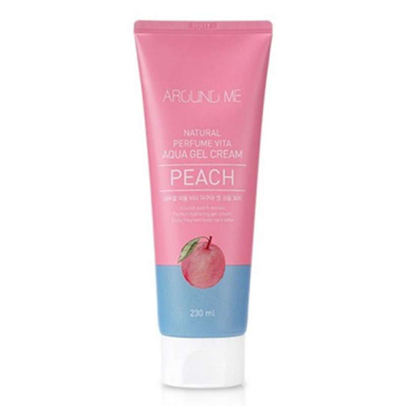 Around Me Natural Perfume Vita Aqua Gel Cream Peach 230ml