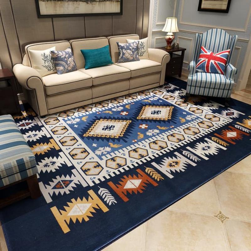Karpet selimut karmut continental empuk lembut 130x185 cm - Dark Blue