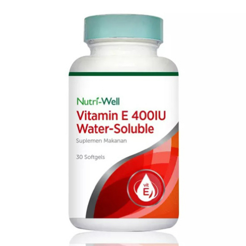 Nutriwell Vitamin E 400Iu Water Solube 30 Softgell