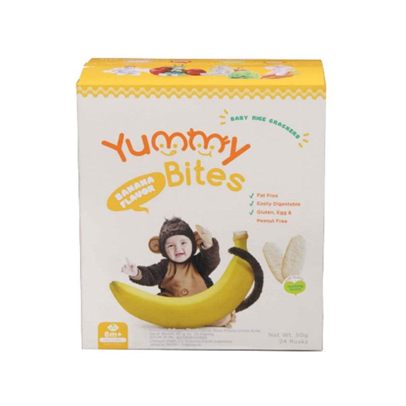 Yummy Bites Rice Crackers Banana 50 Gr Box