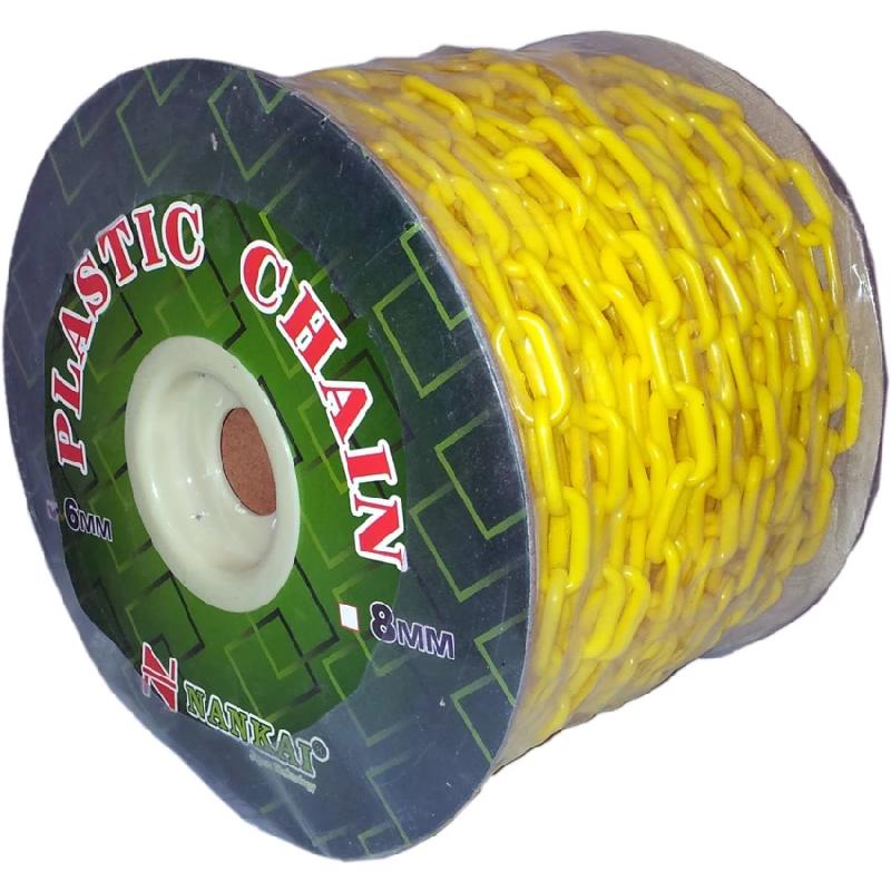 Perkakas Nankai Rantai Meteran Plastik PVC 8mm x 27m - PVC Plastic Chain Perkakas Tool
