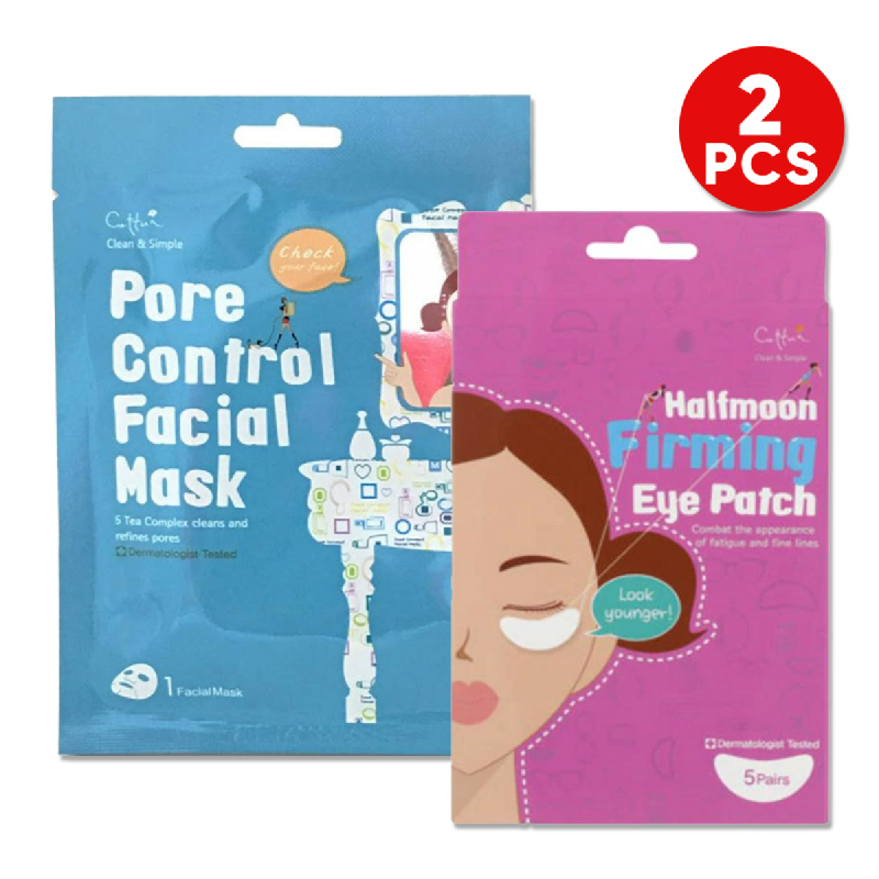 Cettua C&S Pore Control Mask 1S + Cettua Halfmoon Firming Eye Patch