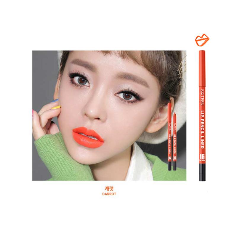 16brand Lip Pencil Liner - Carrot