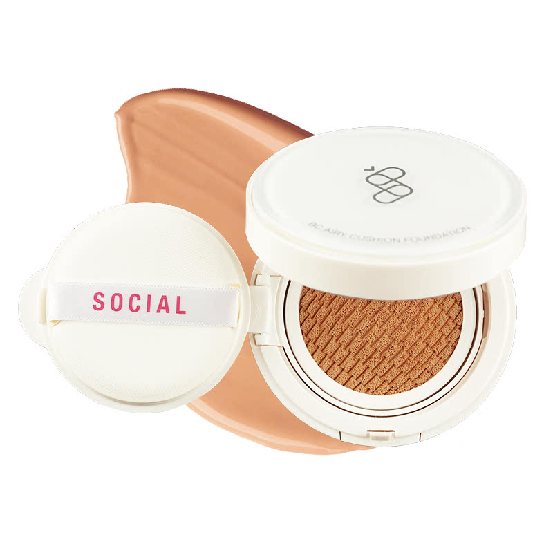 Social Cosmetics BC Airy Cushion Foundation - 04 Dark 14gr (Exp. MAR 2020)