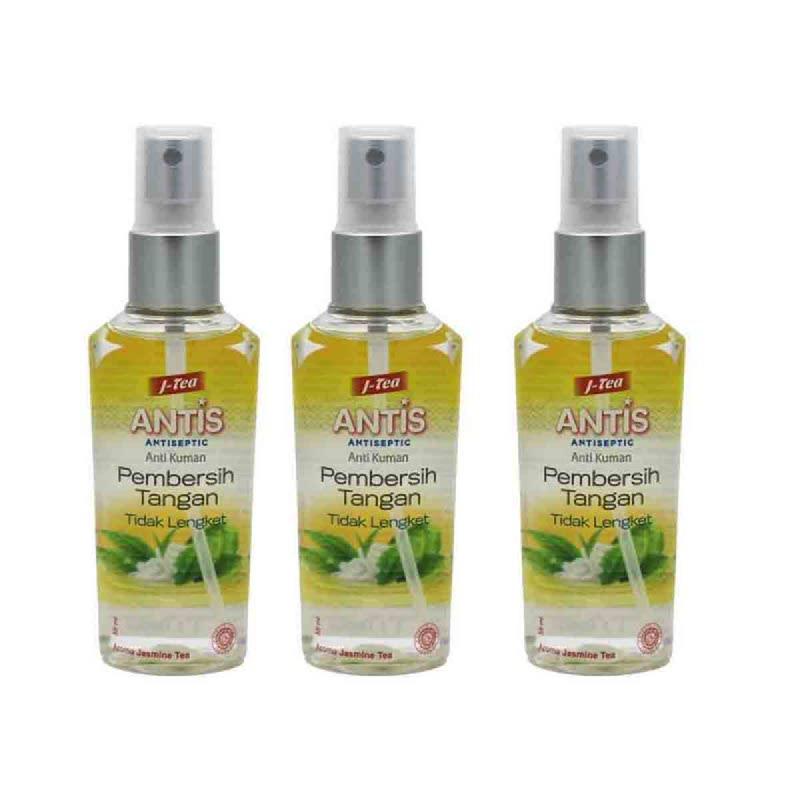 Antis Hand Sanitizer Spray Jasmine Tea 55 Ml (Buy 2 Get 1)