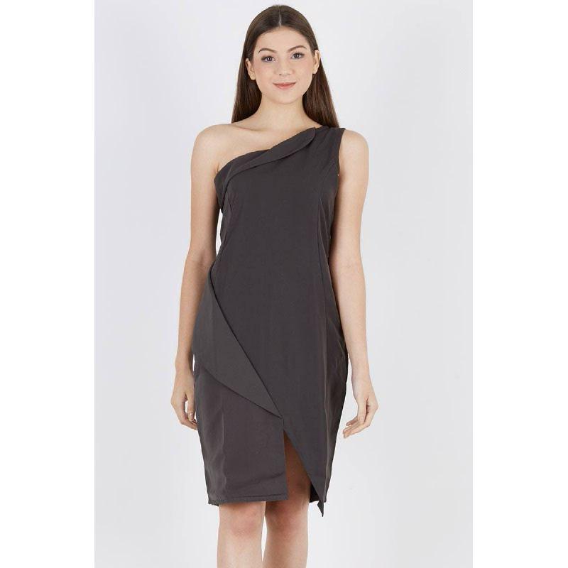 Panna Assymetric Dress Grey