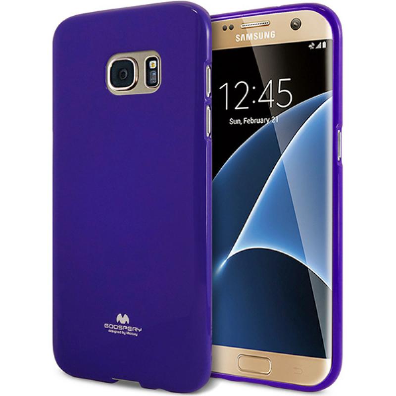 Goospery Jelly Case for Samsung Galaxy S7 Edge - Ungu