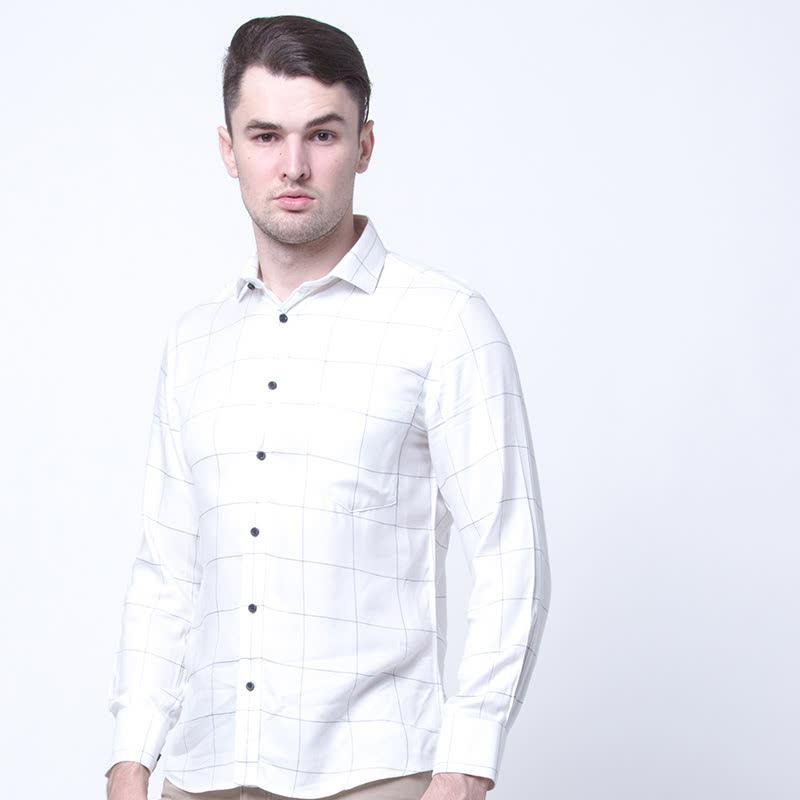 Slim Windowpane Flannel