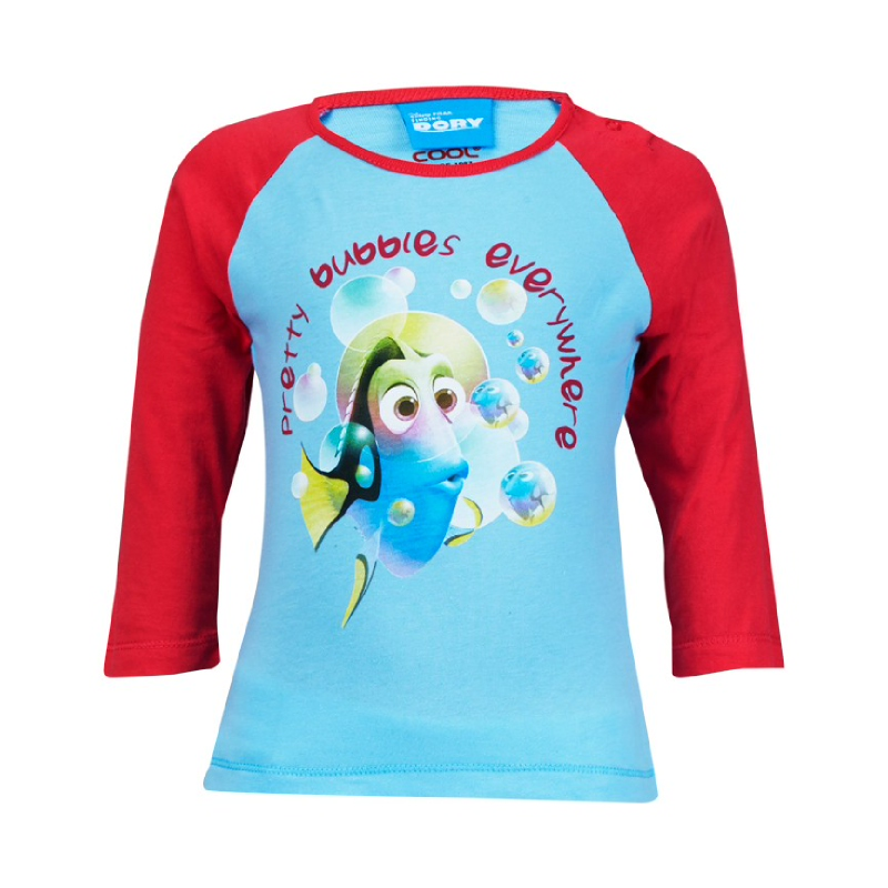 Finding Dory Pretty Bubbles Everywhere Long Sleeve T-Shirt Kids Blue