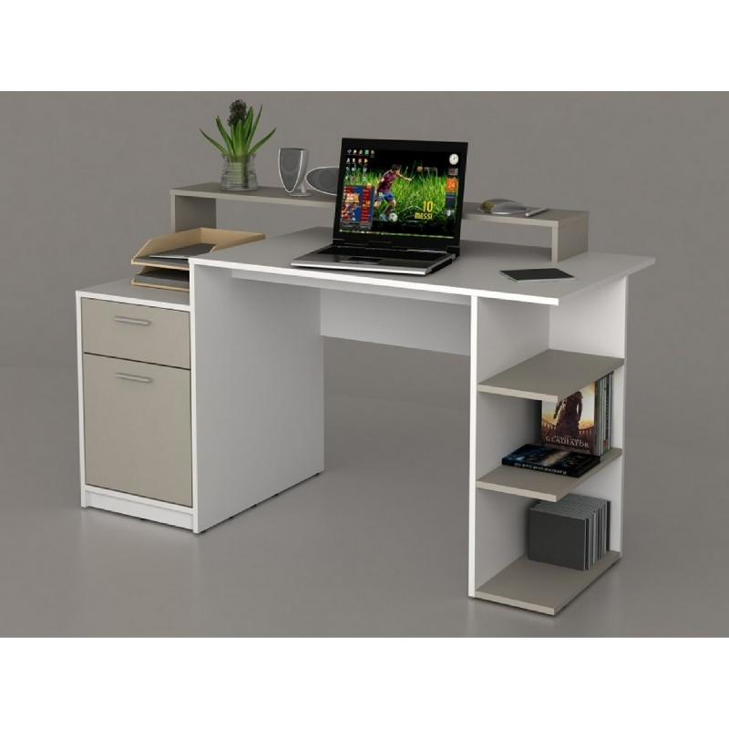 Anya Living MATRIX VU Desk - White-Taupe