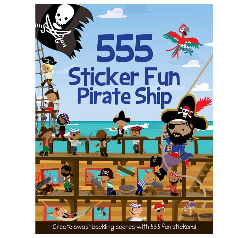555 Sticker Fun Pirate Ship