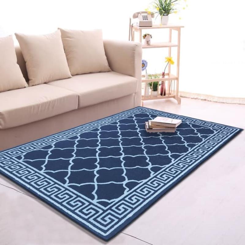 Karpet Handtuft Yoona Bahan Wol Asli Mewah 140x210 cm - Dark Blue