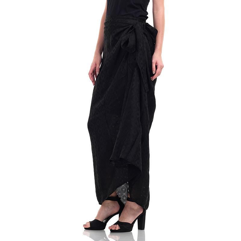 Batik Chic Rok Kain Polos Black