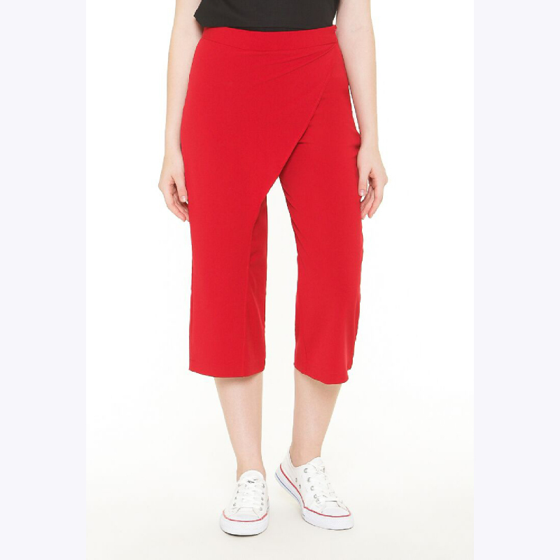 Asymetric Cullotes Pants Red